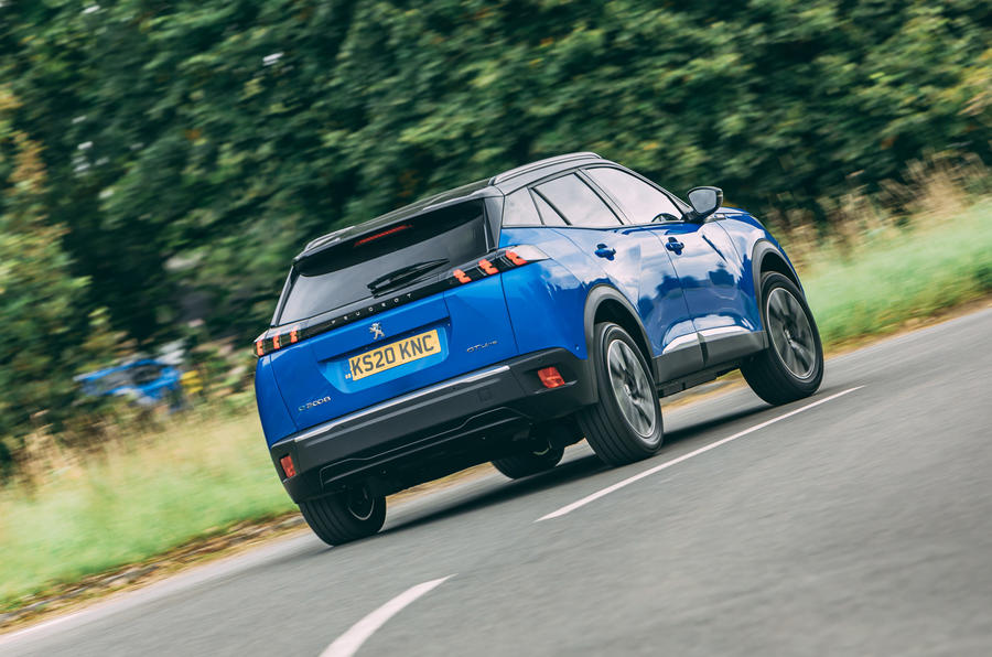 Peugeot e-2008 2020 road test review - hero rear