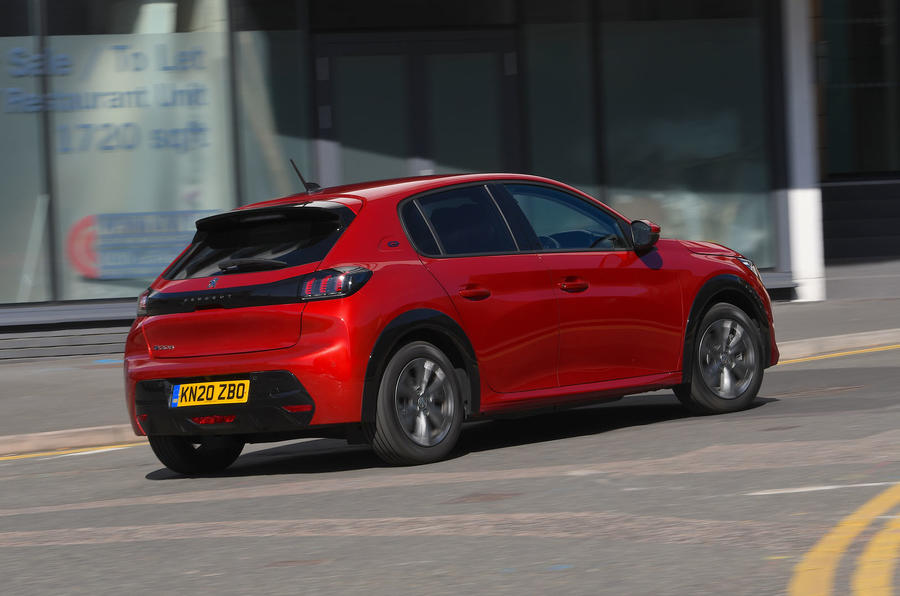 Peugeot e-208 2020 road test review - hero rear