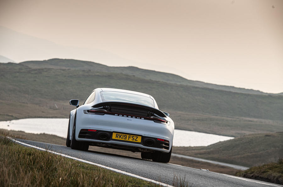 Porsche 911 Carrera S 2019 road test review - hero rear