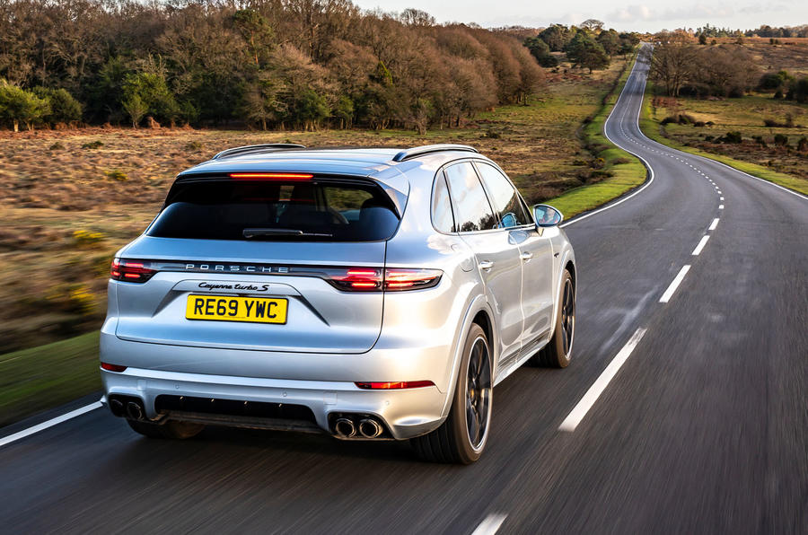 Porsche Cayenne Turbo S E-Hybrid road test review - hero rear