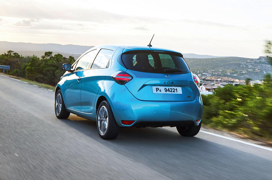Renault Zoe 2020 road test review - hero rear