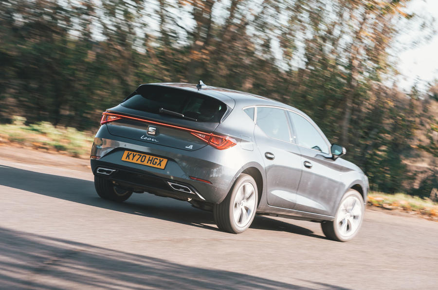 Seat Leon eHybrid 2020 road test review - hero rear