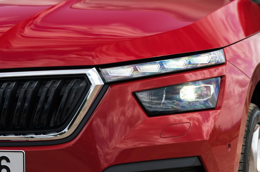 Skoda Kamiq 2019 road test review - headlights