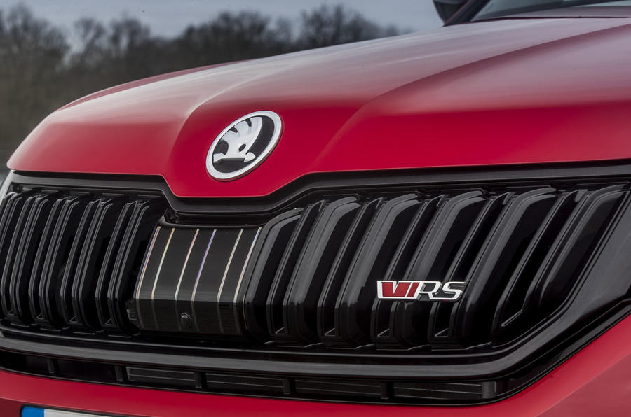 Skoda Kodiaq vRS 2019 road test review - nose