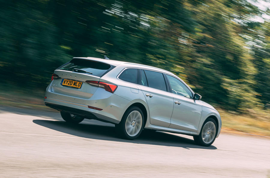 Skoda Octavia Estate 2020 road test review - hero rear