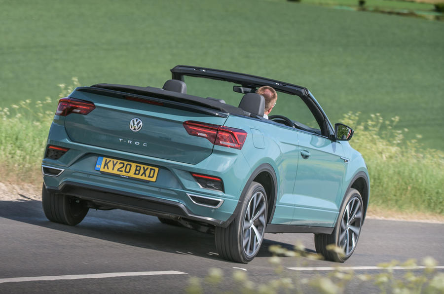 Volkswagen T-Roc Cabriolet 2020 road test review - hero rear