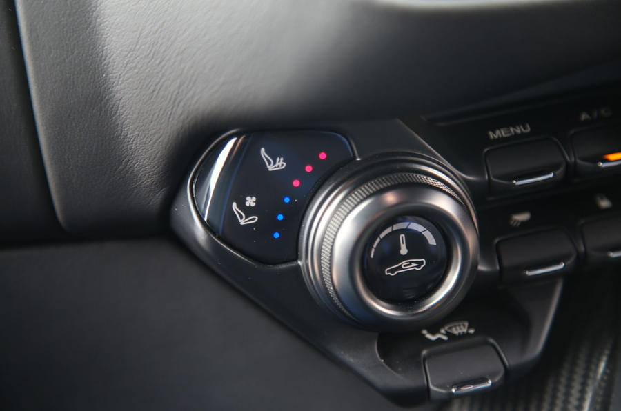Aston Martin Vantage 2018 review climate controls