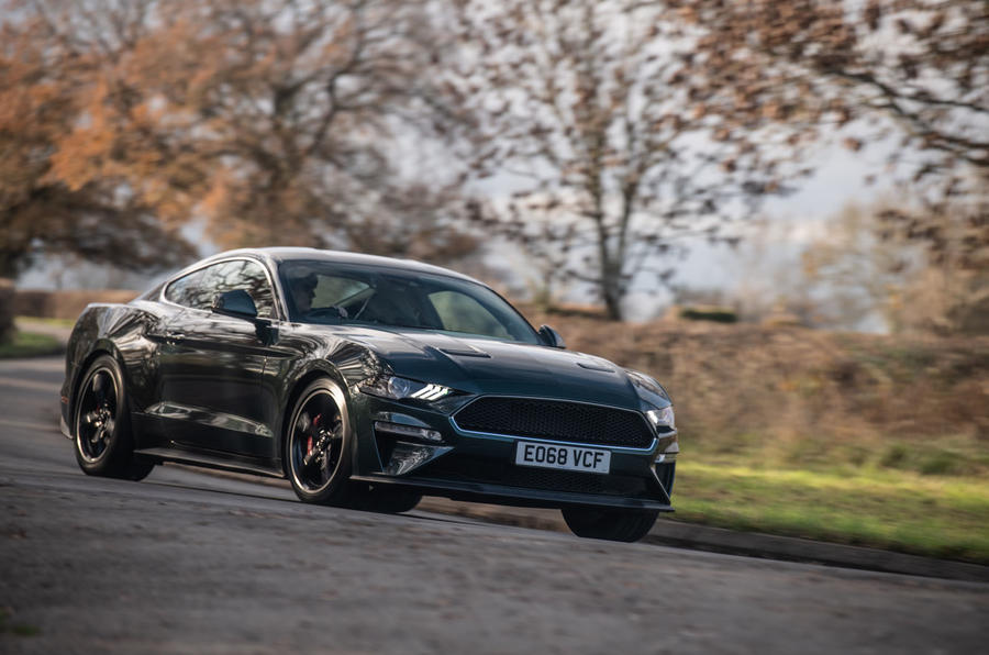 Ford Mustang Bullitt 2018 road test review - cornering front