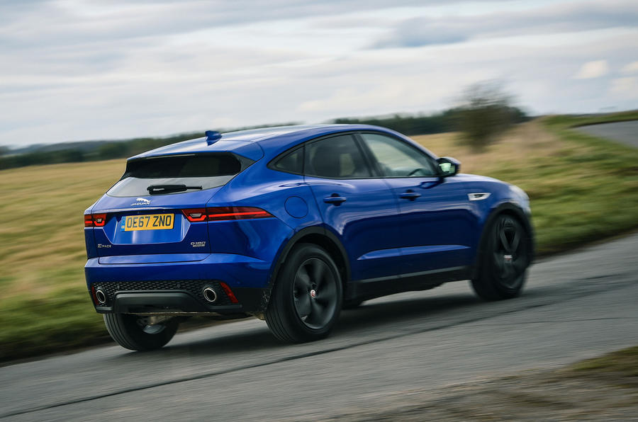 Jaguar E-Pace review action rear