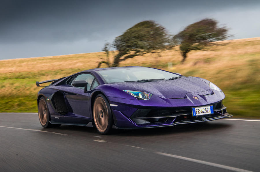 Lamborghini Aventador SVJ 2019 road test review - on the road front