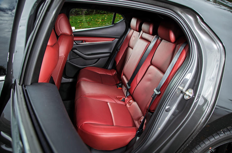 Mazda 3 Skyactiv-X 2019 road test review - rear seats