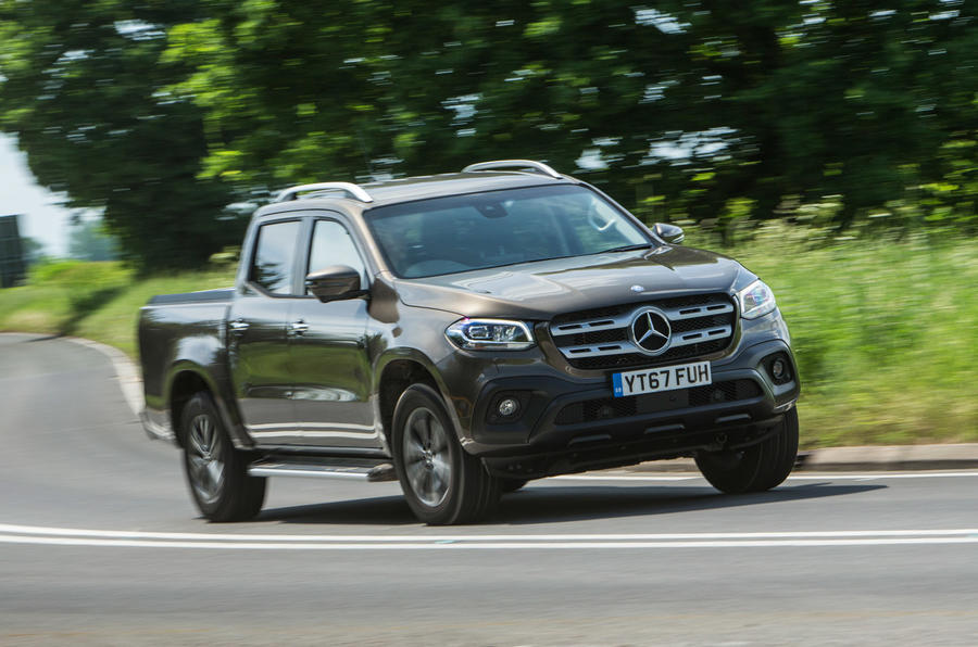 Mercedes-Benz X-Class road test review cornering front