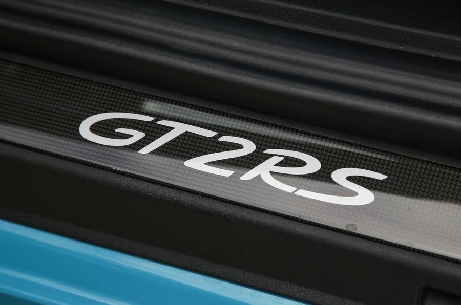 Porsche 911 GT2 RS 2018 road test review scuff plates