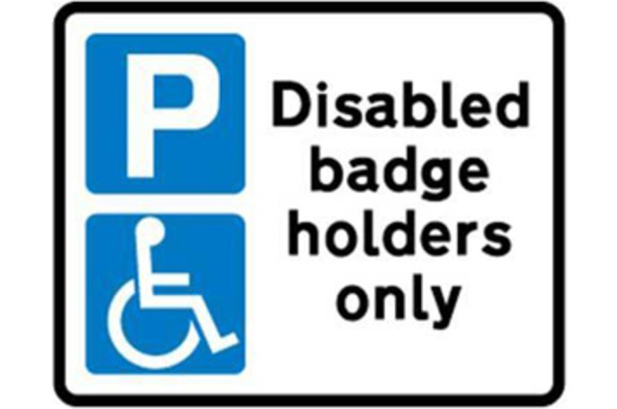 Blue badge crackdown