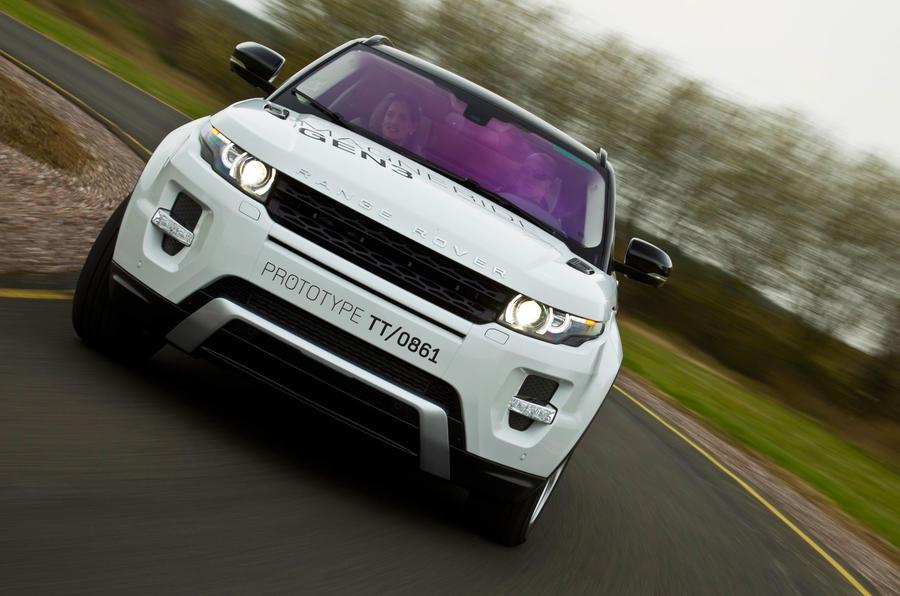 Range Rover Evoque hard cornering
