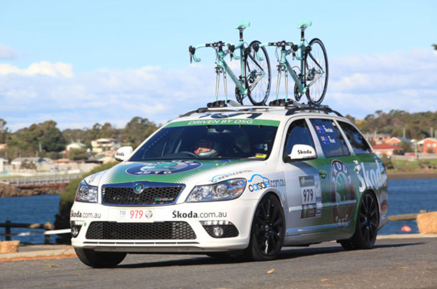 Skoda goes rallying - with bikes