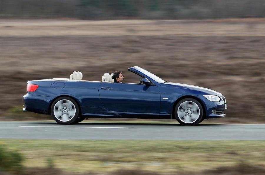 BMW 335i Convertible roof down