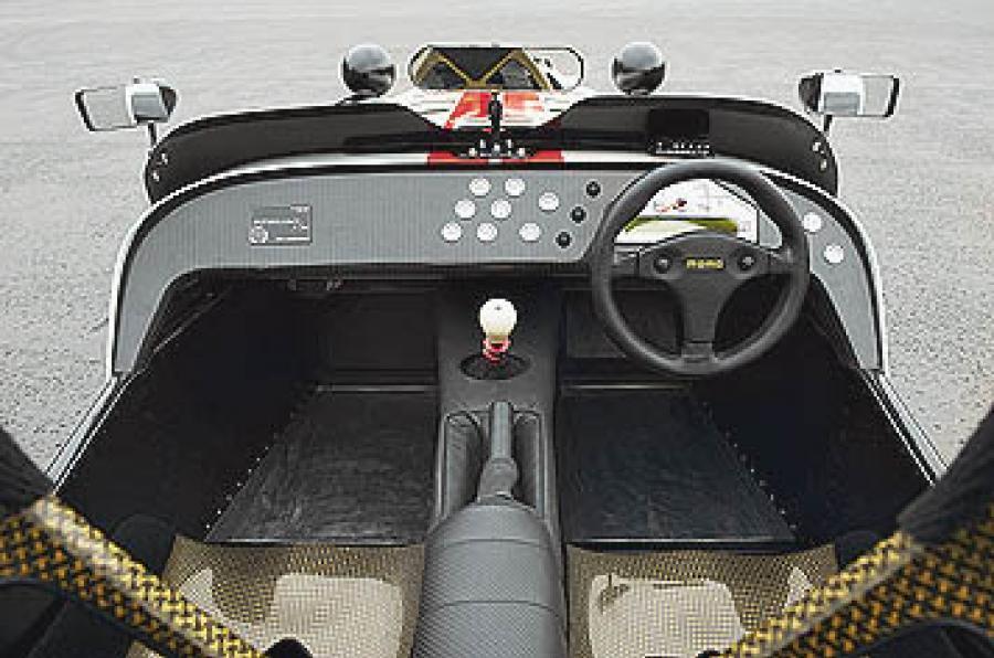 Track car Caterham R500 interior