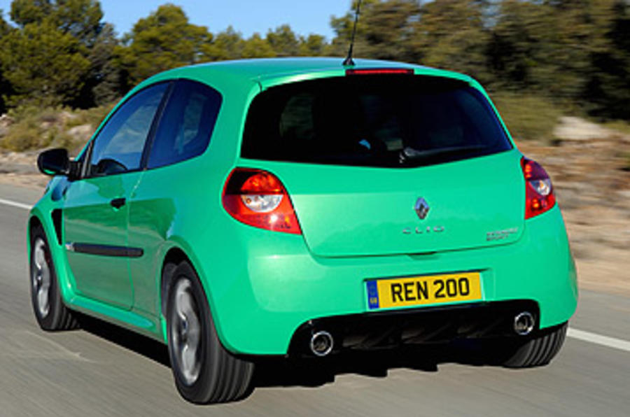 Renault Clio Renaultsport 200 Cup rear