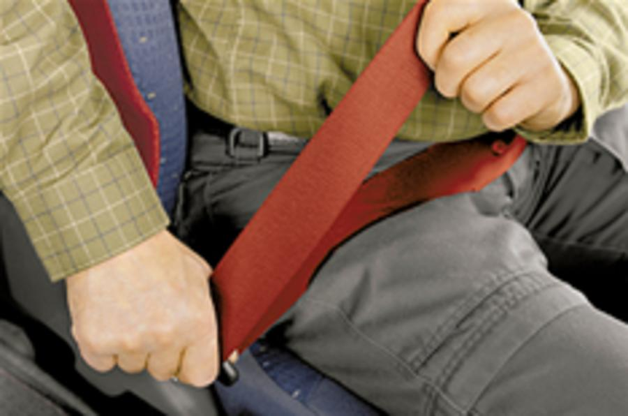 Seat belt fines double to £60