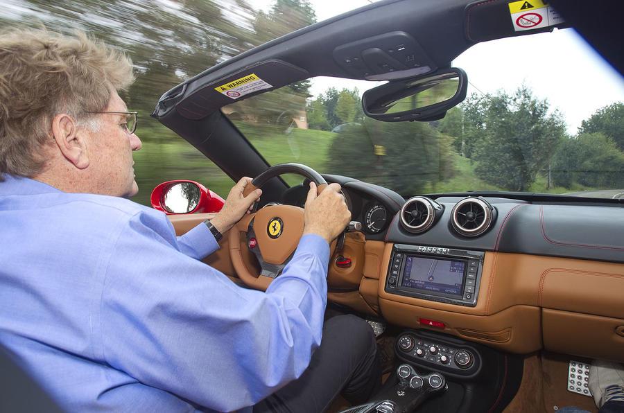 Driving the Ferrari California