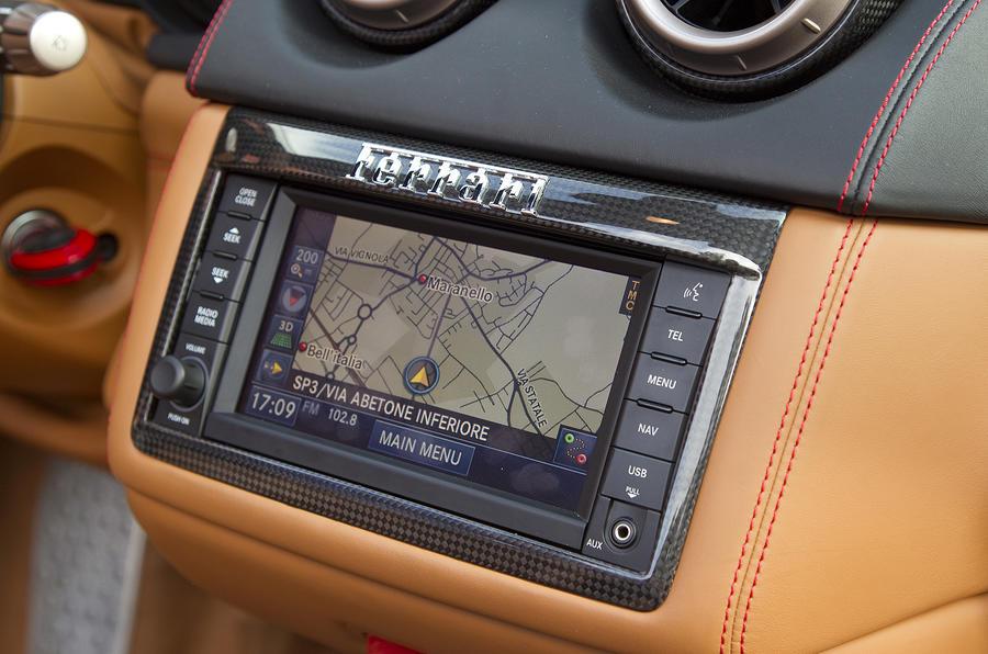 Ferrari California infotainment