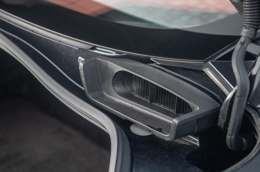 Aston Martin DBS Superleggera 2018 road test review - engine intake
