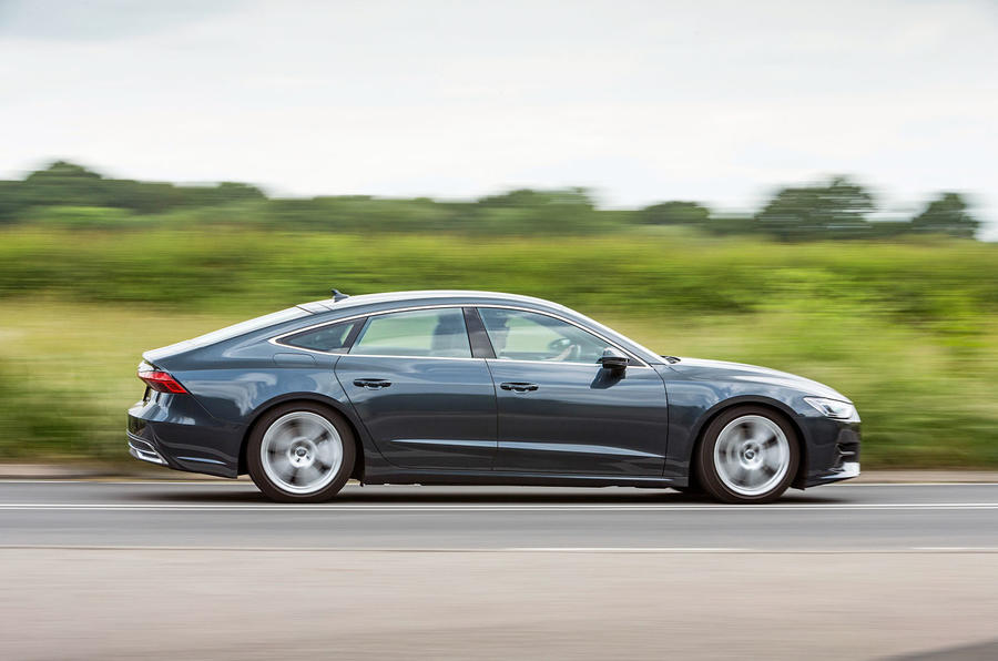 Audi A7 Sportback 2018 road test review on the road side