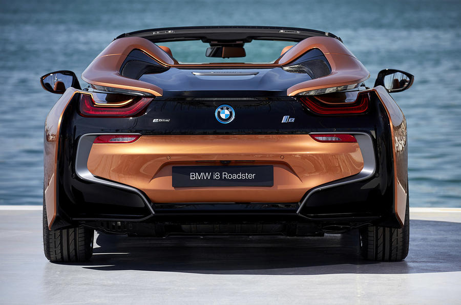 BMW i8 Roadster 2018 review static rear end