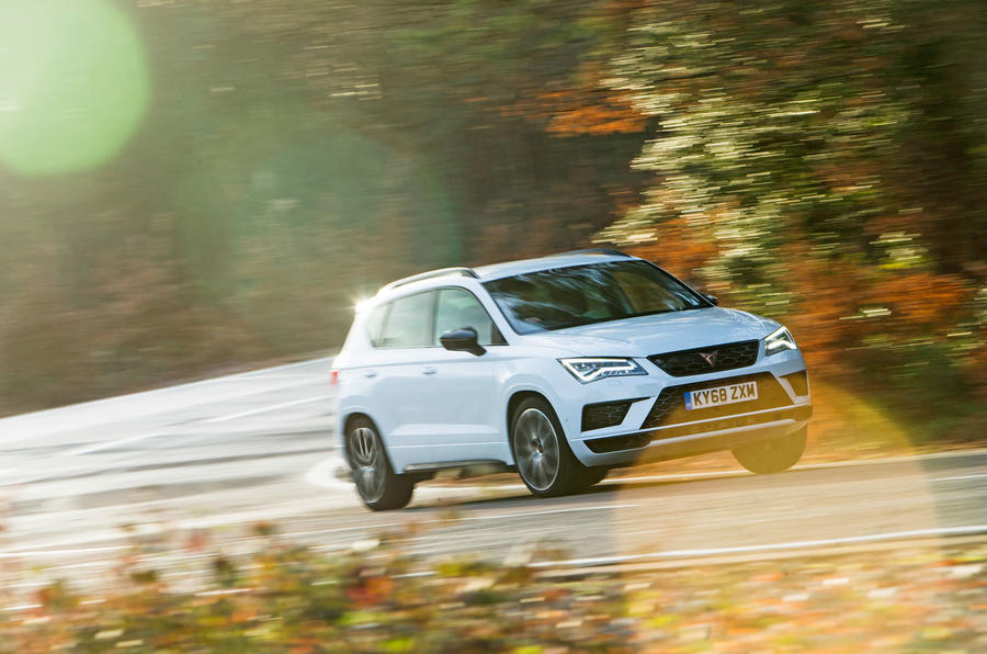 Cupra Ateca 2019 road test review - cornering front