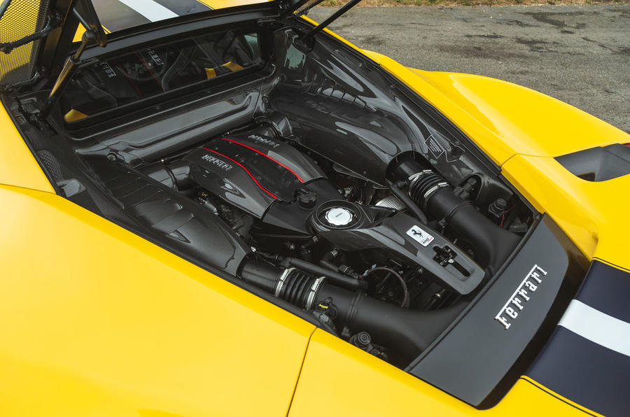 Ferrari 488 Pista 2019 road test review - engine