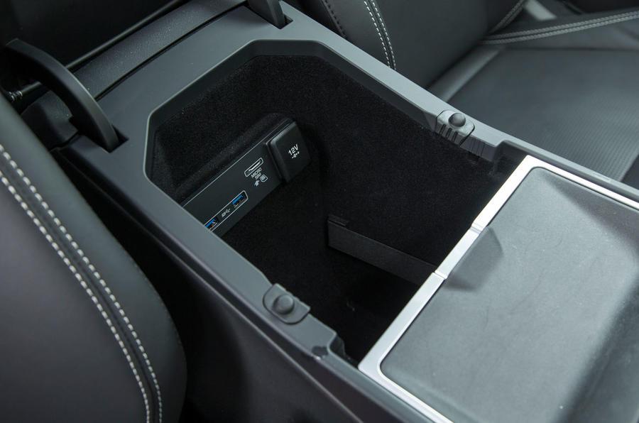 Jaguar I-Pace 2018 road test review storage bins