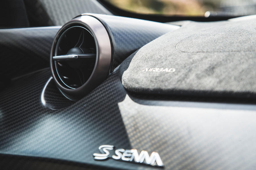 McLaren Senna 2018 road test review - air vents