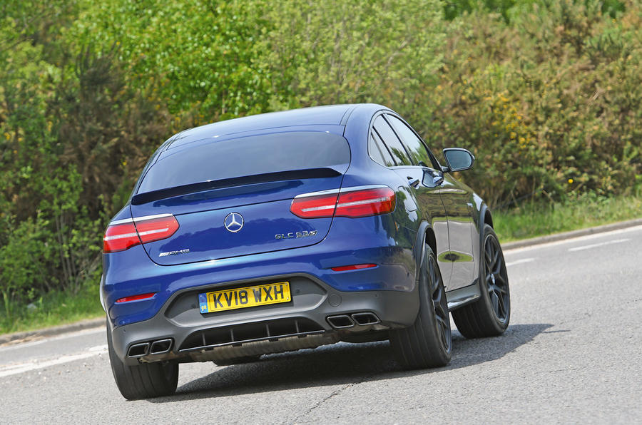 Mercedes-AMG GLC 63 S road test review cornering rear