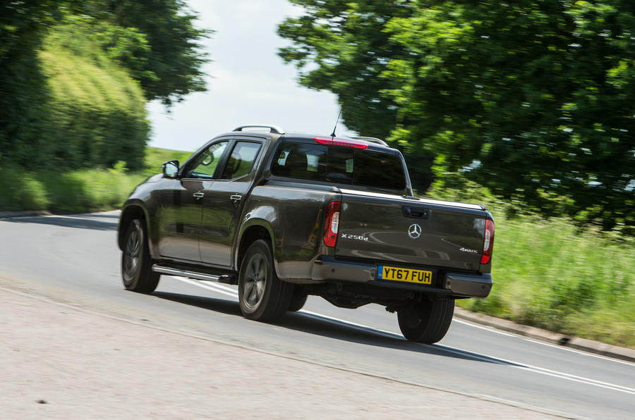 Mercedes-Benz X-Class road test review cornering rear