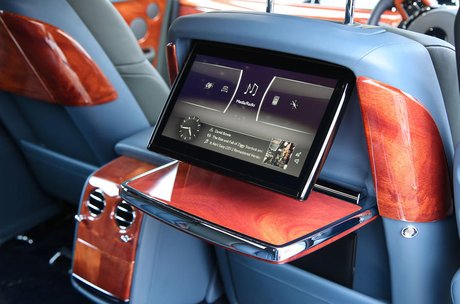 Rolls Royce Phantom 2018 review rear seats screens