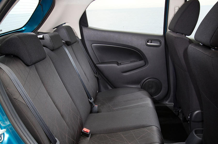 Mazda 2 rear seats