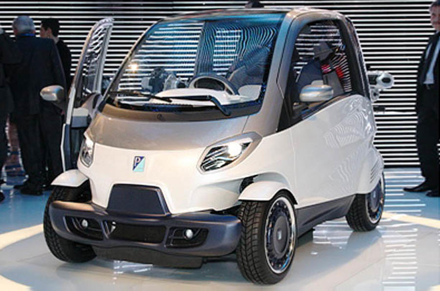 Piaggio reveals new city car