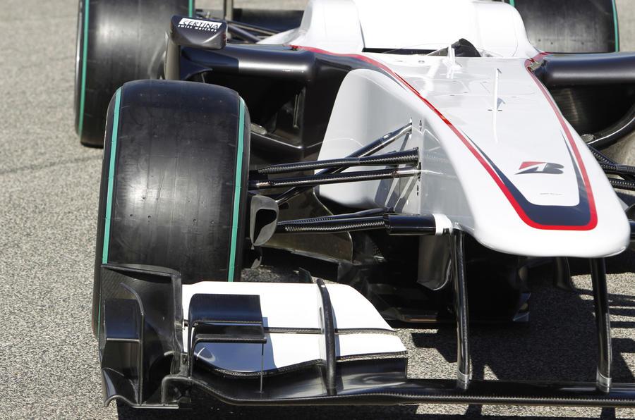 Sauber's sponsorless F1 car