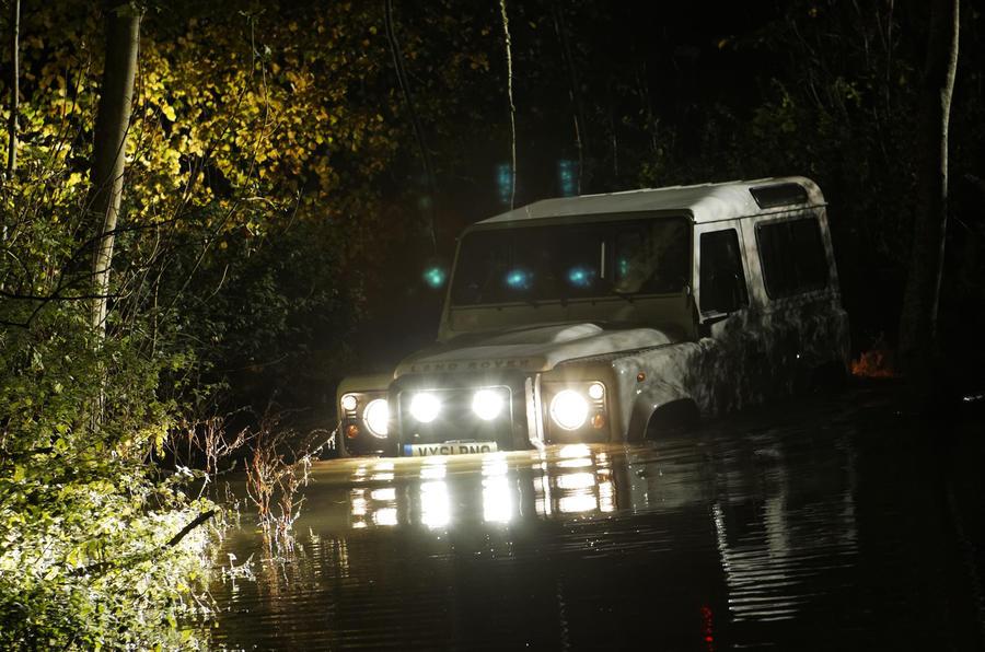 Land Rover Defender 90 wading