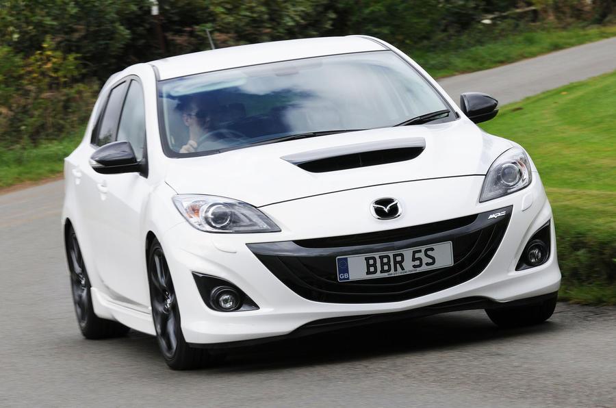Mazda 3 MPS BBR 320 cornering