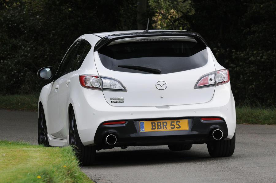 Mazda 3 MPS BBR 320 rear cornering