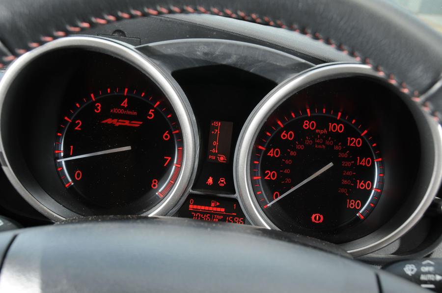 Mazda 3 MPS BBR 320 instrument cluster