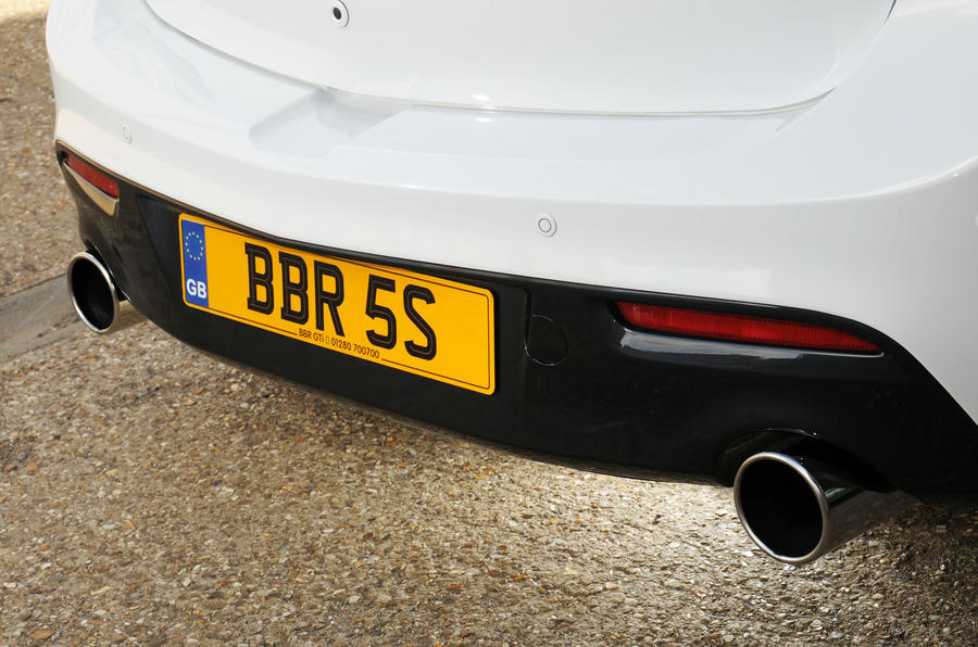 Mazda 3 MPS BBR 320 twin exhaust