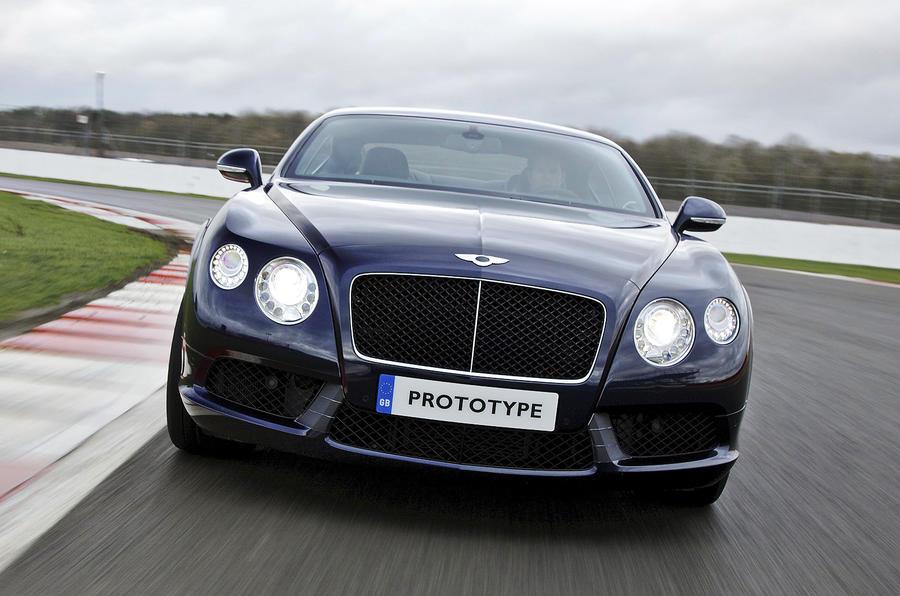 Bentley Continental GT V8 cornering