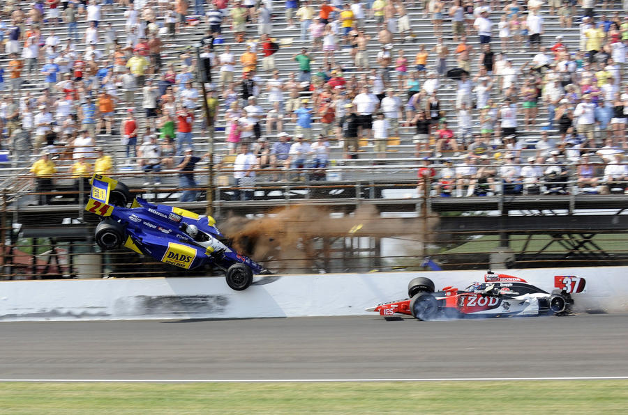 Indy crash racer sidelined