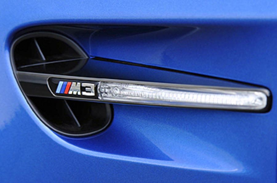 BMW M3 badged indicator