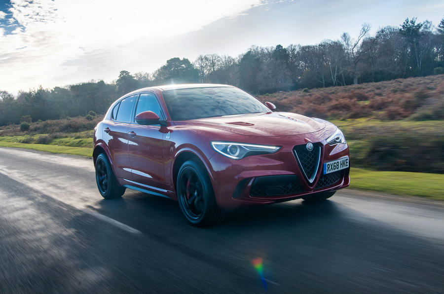 Alfa Romeo Stelvio Quadrifoglio 2019 road test review - on the road front