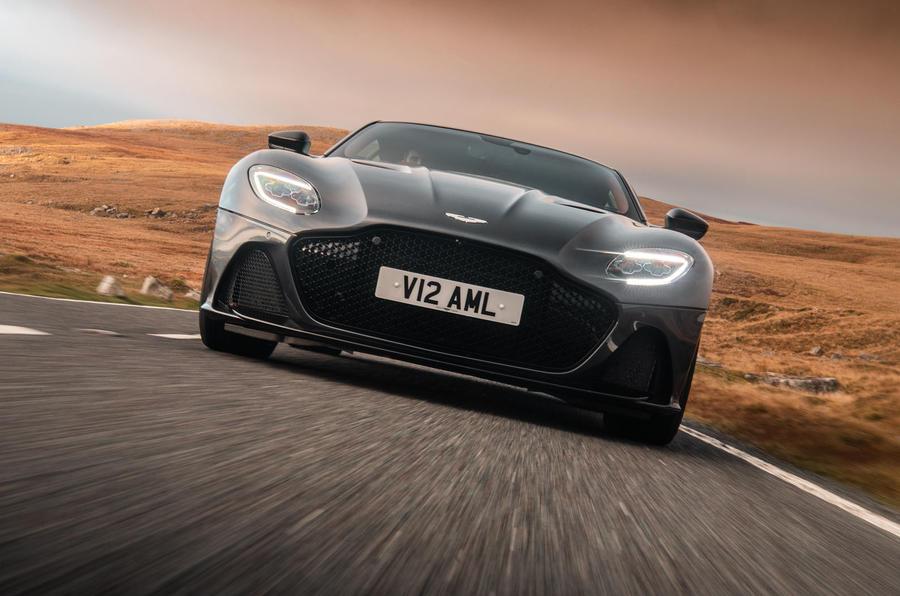 Aston Martin DBS Superleggera 2018 road test review - on the road nose