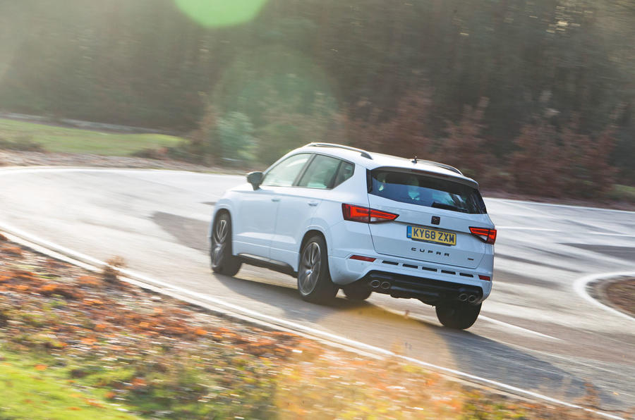 Cupra Ateca 2019 road test review - cornering rear